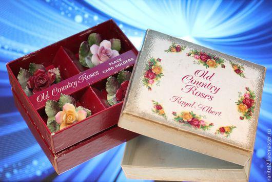 Винтажные предметы интерьера. Ярмарка Мастеров - ручная работа. Купить Цветы роза фарфор ROYAL ALBERT Англия 1. Handmade.