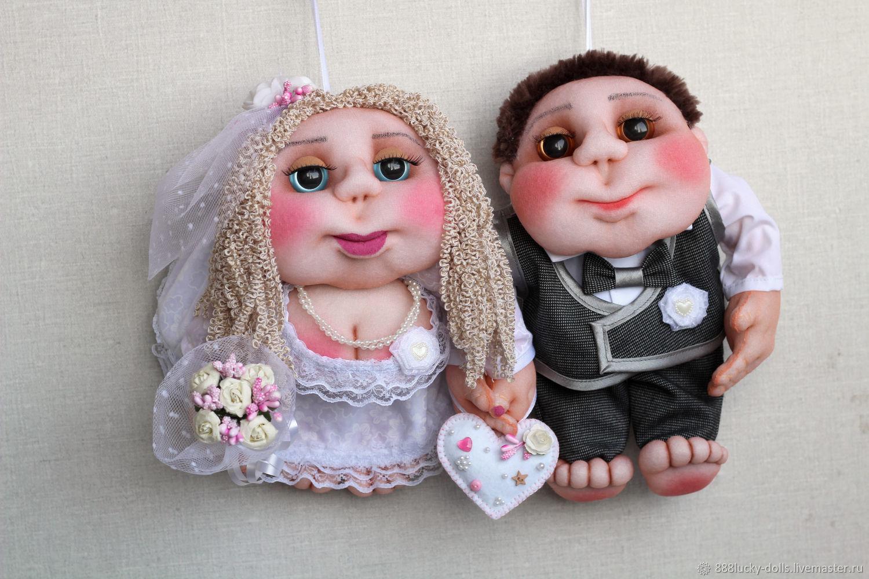 Куклы: Кукла Попик Свадебная пара (жених и невеста) - кукла на удачу, Подарки, Мелитополь, Фото №1