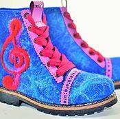 """Обувь ручной работы. Ярмарка Мастеров - ручная работа Ботинки валяные женские """"Симфония цвета"""". Handmade."""