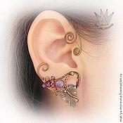 Украшения ручной работы. Ярмарка Мастеров - ручная работа Ear cuff «Лоза». Handmade.