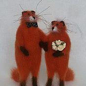 Свадебный салон ручной работы. Ярмарка Мастеров - ручная работа Свадебные лисы. Handmade.