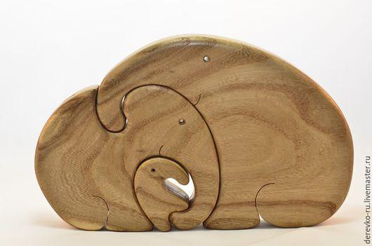 Детская ручной работы. Ярмарка Мастеров - ручная работа. Купить Слоны из карагача. Handmade. Слоны, семья, карагач, карагач