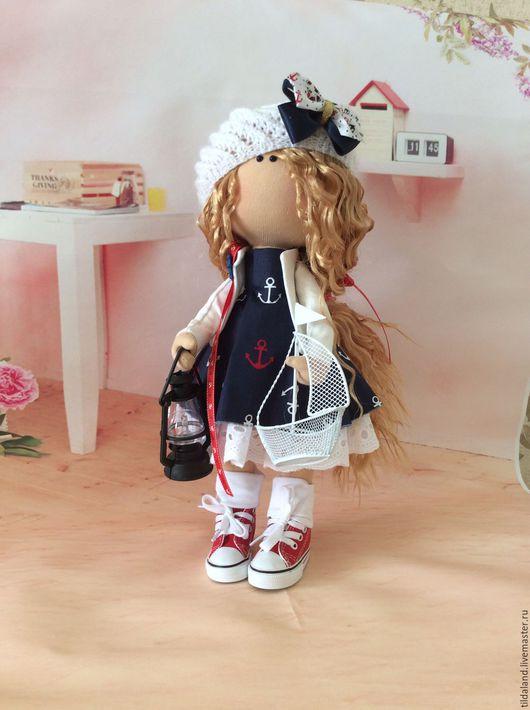 Куклы тыквоголовки ручной работы. Ярмарка Мастеров - ручная работа. Купить Marina. Handmade. Комбинированный, тильда кукла, море