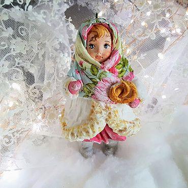 """Куклы и игрушки ручной работы. Ярмарка Мастеров - ручная работа Ватная игрушка на елку """" Дашенька"""". Handmade."""