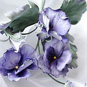 Украшения handmade. Livemaster - original item Handmade flowers violets of Montmartre.. Handmade.