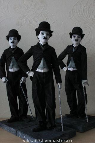 Коллекционные куклы ручной работы. Ярмарка Мастеров - ручная работа. Купить Чарли Чарли Чарли. Handmade. Чарли Чаплин, кино