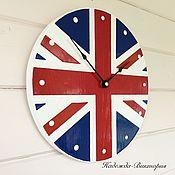 "Часы ручной работы. Ярмарка Мастеров - ручная работа Часы настенные ""Британский флаг"". Handmade."