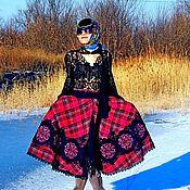 Одежда ручной работы. Ярмарка Мастеров - ручная работа Зимняя юбка с вышивкой и кружевом (№223). Handmade.