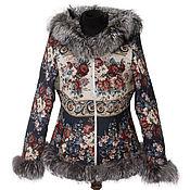 Одежда handmade. Livemaster - original item Designer zip jacket with Fox fur. Handmade.