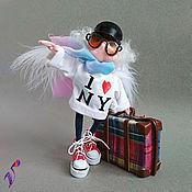 Куклы и пупсы ручной работы. Ярмарка Мастеров - ручная работа Кукла Ангел дальних странствий. Джозеф. Текстильная подвижная игрушка. Handmade.
