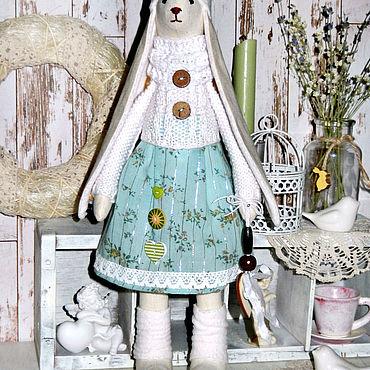 Куклы и игрушки ручной работы. Ярмарка Мастеров - ручная работа Заяц Тильда в белом. Handmade.