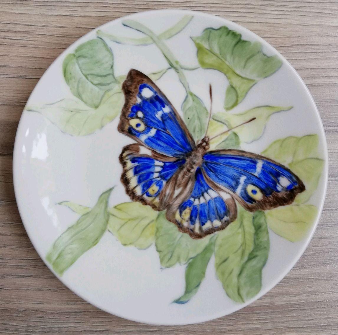 Бабочка (фарфоровое блюдце), Тарелки, Заокский,  Фото №1