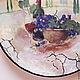 Декоративная посуда ручной работы. Тарелка декоративная Вино и виноград. Оза (decor33). Ярмарка Мастеров. Прованс, дерево