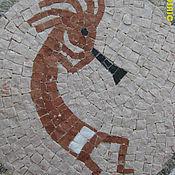 """Картины и панно ручной работы. Ярмарка Мастеров - ручная работа """"Танцор с дудкой"""" - Мозаичное панно из мрамора. Handmade."""