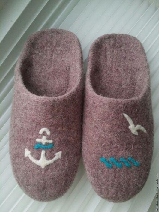 Обувь ручной работы. Ярмарка Мастеров - ручная работа. Купить шлёпанцы. Handmade. Сиреневый, женская обувь, здоровье, шерсть меринос