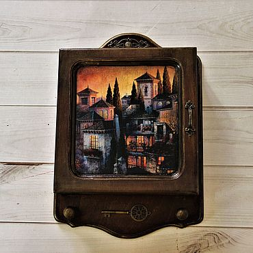 For home and interior handmade. Livemaster - original item the housekeeper: Evening town. Handmade.