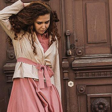 Одежда ручной работы. Ярмарка Мастеров - ручная работа Шерстяной бежевый жакет, женский пиджак в стиле бохо, деловой жакет. Handmade.