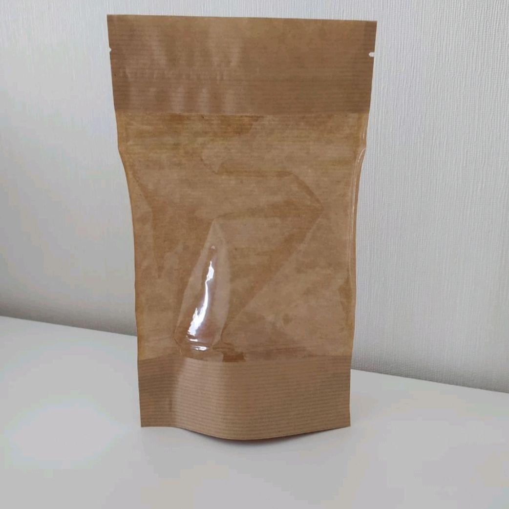 Крафт дой пакет с большим окном 135*225, Упаковка, Санкт-Петербург,  Фото №1