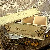 Для дома и интерьера ручной работы. Ярмарка Мастеров - ручная работа Чайный короб-дом,  для 4-х сортов чая.. Handmade.
