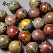 Материалы для творчества handmade. Livemaster - original item Picasso Jasper beads, 12 mm, smooth bead (natural stones). Handmade.
