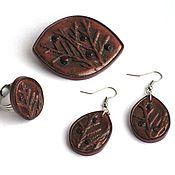 Украшения handmade. Livemaster - original item Brooch, earrings and ring