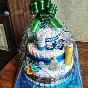Подарки ручной работы. Ярмарка Мастеров - ручная работа Торт из подгузников. Handmade.