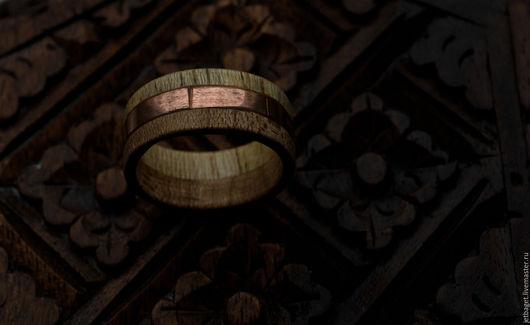 """Кольца ручной работы. Ярмарка Мастеров - ручная работа. Купить Кольцо """"Триединство"""" (дерево, медь). Handmade. Кольцо, подарок девушке"""