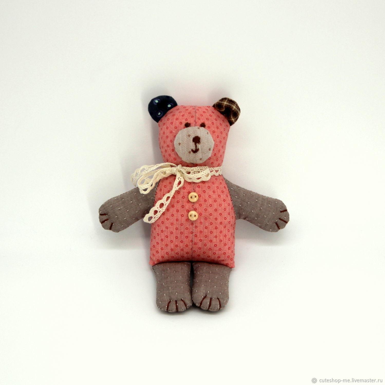 Маленький мишка текстильный, 15 см, Мягкие игрушки, Москва,  Фото №1