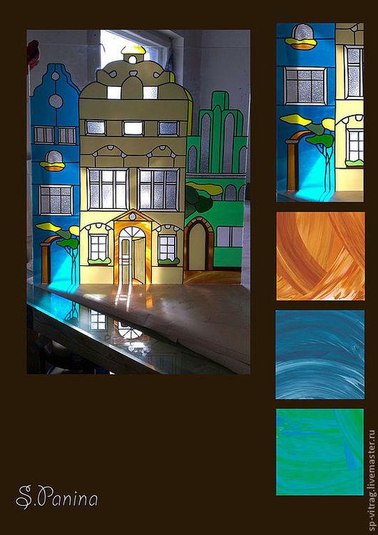 Элементы интерьера ручной работы. Ярмарка Мастеров - ручная работа. Купить окно в голландию. Handmade. Витраж, витражное стекло