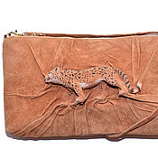 Сумки и аксессуары handmade. Livemaster - original item 3D Bag Leopard from genuine suede. Handmade.