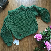 """Одежда ручной работы. Ярмарка Мастеров - ручная работа Вязаный свитер ручной вязки """"Оверсайз"""". Handmade."""