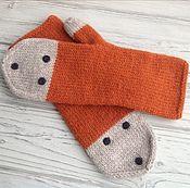 Аксессуары handmade. Livemaster - original item A copy of the work Mittens knitted and felted chanterelles. Handmade.