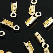 Фурнитура ручной работы. Ярмарка Мастеров - ручная работа Концевик  зажим позолота Gold plated  Южная Корея. Handmade.