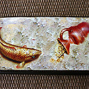 Кошельки ручной работы. Ярмарка Мастеров - ручная работа Портмоне  Золотая рыбка. Handmade.