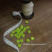 Материалы для творчества ручной работы. Ярмарка Мастеров - ручная работа пуговки для кукол. Handmade.