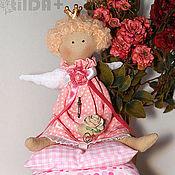 Куклы и игрушки ручной работы. Ярмарка Мастеров - ручная работа Малышка в розовом (маленькая принцесса тильда). Handmade.