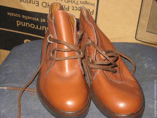 Винтажная обувь. Ярмарка Мастеров - ручная работа. Купить Новые ботинки, Италия, винтаж. Handmade. Бежевый, демисезонные ботинки