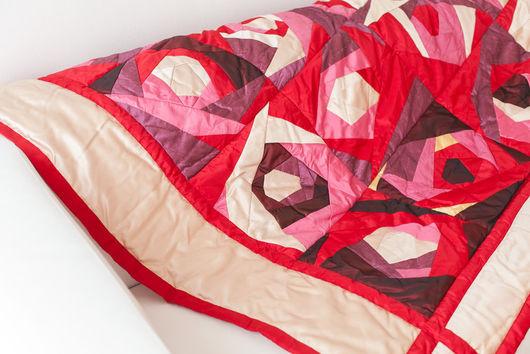 """Текстиль, ковры ручной работы. Ярмарка Мастеров - ручная работа. Купить Лоскутное покрывало """"Розы"""" в стиле пэчворк. Handmade. хлопок"""