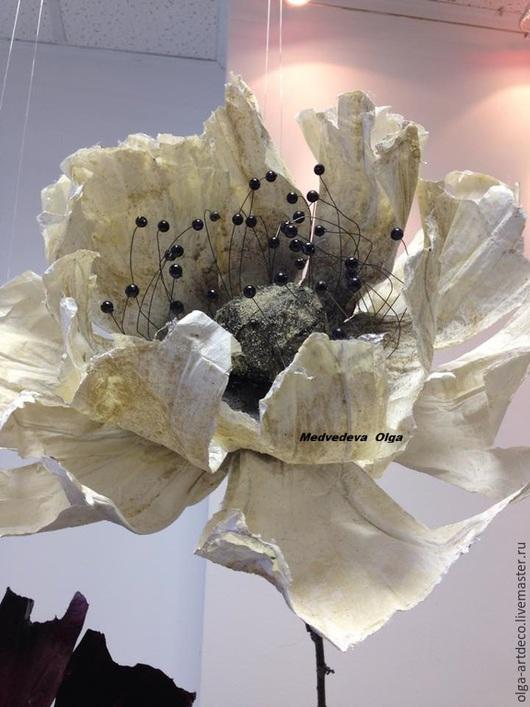 Цветы ручной работы. Ярмарка Мастеров - ручная работа. Купить бумажные цветы, цветы из бумаги, анемон. Handmade. Белый