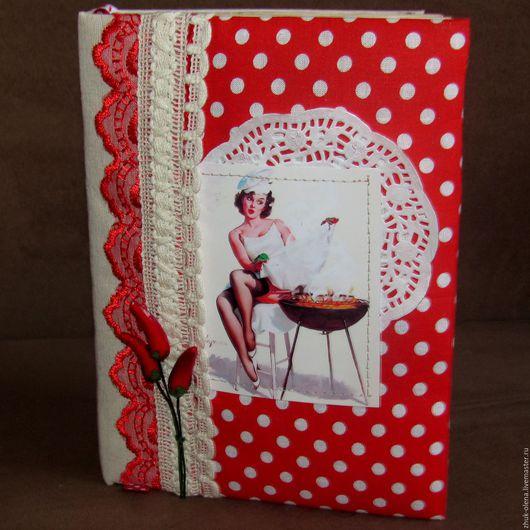 Кулинарные книги ручной работы. Ярмарка Мастеров - ручная работа. Купить Кулинарная книга. Handmade. Красный цвет, идея подарка