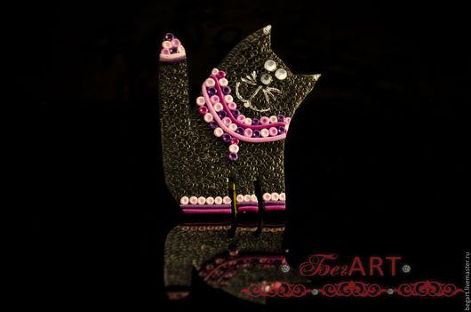 """Броши ручной работы. Ярмарка Мастеров - ручная работа. Купить Брошь """"Кот Феликс"""". Handmade. Черный, коты и кошки"""