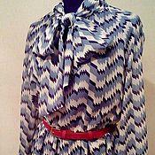 """Одежда ручной работы. Ярмарка Мастеров - ручная работа Платье """"Зигзаги"""" из шелкового шифона. Handmade."""