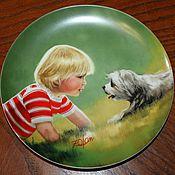 Винтаж handmade. Livemaster - original item Plates of America`s kindest artist Donald Zolan. Handmade.