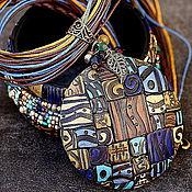 Украшения ручной работы. Ярмарка Мастеров - ручная работа кулон и браслет мотивы этно полимерная глина. Handmade.