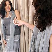 Одежда ручной работы. Ярмарка Мастеров - ручная работа Светло серая юбочка в клеточку ,многоярусная. Стиль бохо-шик.. Handmade.