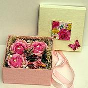 """Цветы и флористика ручной работы. Ярмарка Мастеров - ручная работа Свит бокс / Sweet Box  """"Розовая мечта"""". Handmade."""