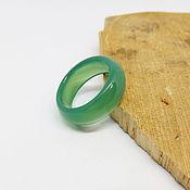 Украшения handmade. Livemaster - original item Green agate ring, chalcedony 19.25 R-R. Handmade.