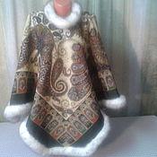 Одежда ручной работы. Ярмарка Мастеров - ручная работа Пончо из павловопосадского платка. Handmade.