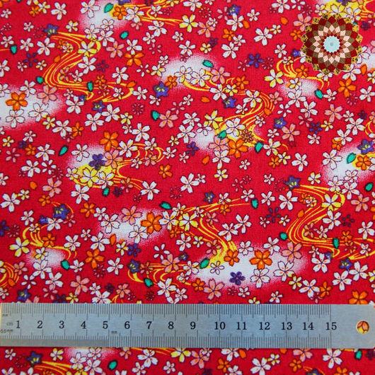 Ткань хлопок `Млечный путь красный`. Код товара: ZT-00004