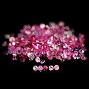 Бусины ручной работы. Ярмарка Мастеров - ручная работа Сапфир розовый натуральный калиброванный, круг 1,0 мм, 700 шт.. Handmade.